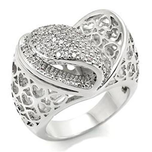 R783 5   2 CARAT I LOVE YOU HEARTS RING FABULOUS VALENTINES DAY GIFT